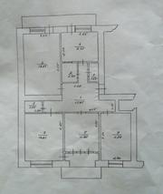 Срочно продается 4-ох комнатная квартира в г.Берегово