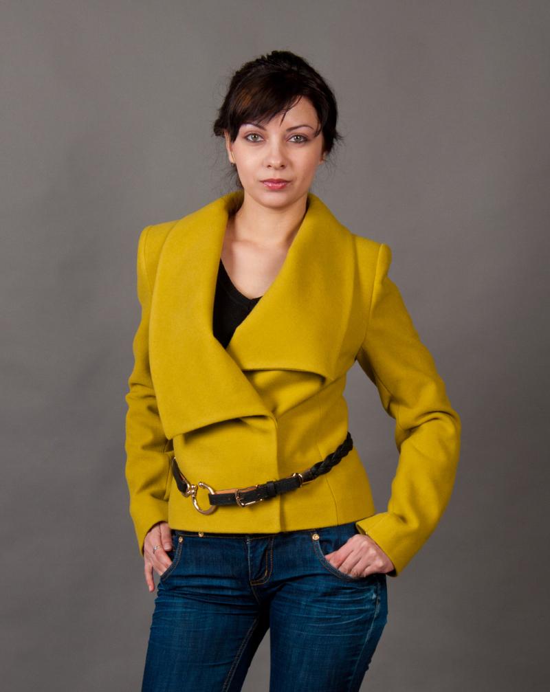 Женское зимнее пальто из кашемира