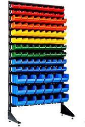 Продам стеллаж с пластиковыми ящиками для харнения мелкого товара